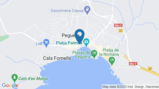 Paguera Treff Boutique Hotel Map