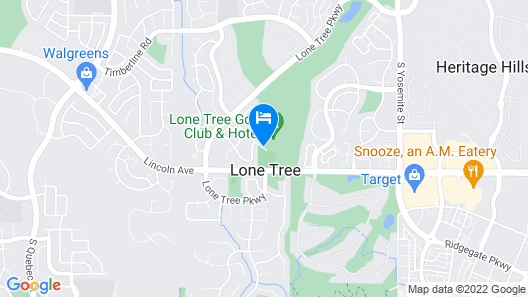Lone Tree Golf Club And Hotel Map