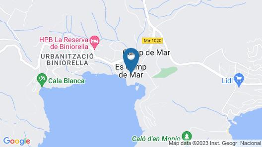 Bagari Apartments Camp de Mar Map