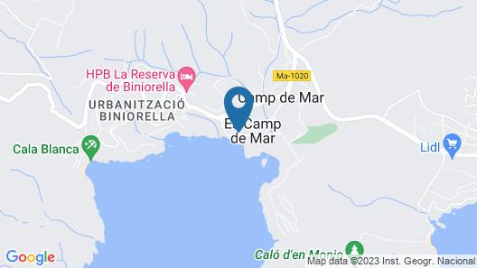 Aparthotel Bahía Suites Camp De Mar Map