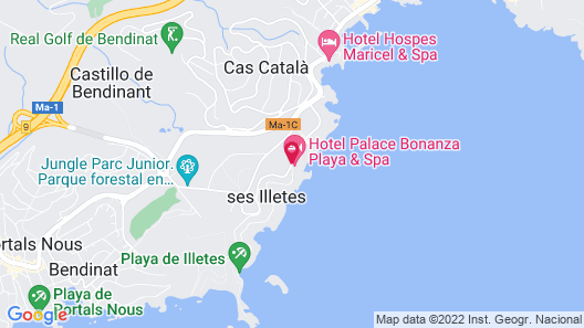 Hotel Palace Bonanza Playa - Resort & SPA by Olivia Hotels Map