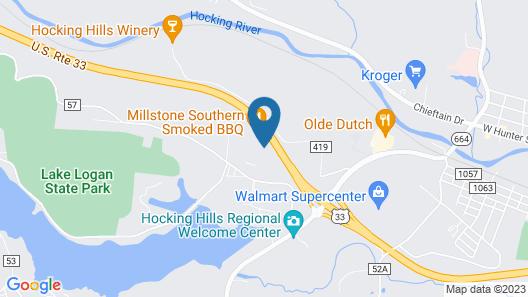 Sleep Inn Logan Ohio-Hocking Hills Map