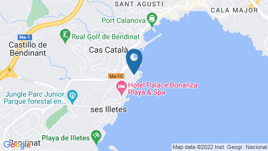 Hotel de Mar Gran Meliá - The Leading Hotels of the World Map
