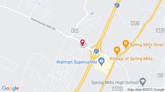 Quality Inn Spring Mills - Martinsburg North Map