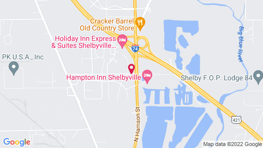 Holiday Inn Express Hotel & Suites Shelbyville Indianapolis Map