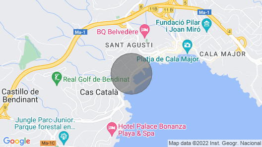 Sant Agusti Apartment, Sleeps 5 With Pool and Air Con Map