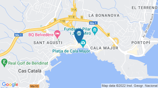 Be Live Adults Only La Cala Boutique Hotel Map
