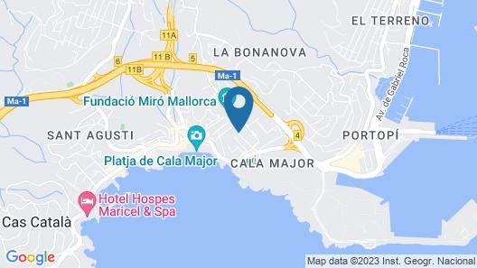 Hotel Joan Miró Museum Map