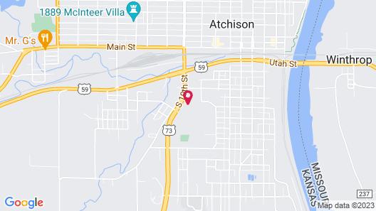 Quality Inn Atchison Map