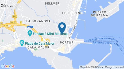 Hotel Amic Horizonte Map