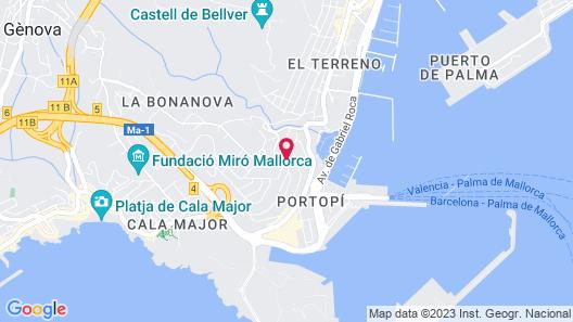 Hesperia Ciudad de Mallorca Map