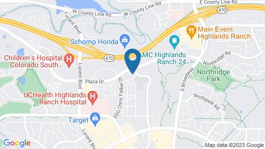 Hilton Garden Inn Denver/Highlands Ranch Map