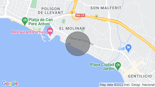 Townhouse 200mts From Sea/beach Map