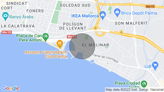 CA NA Rosa - Beautiful House in es Portitxol, Boasting a Great Back Terrace and Just 280 Metres From the Sea. Free Wifi Map