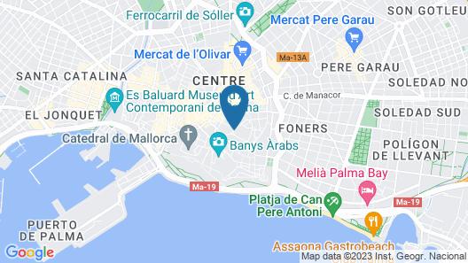 Sant Francesc Hotel Singular Map
