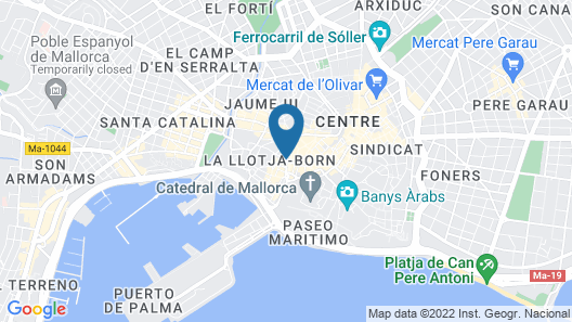 Boutique Hotel Can Alomar Map