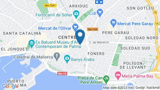 Fil Suites Turismo de Interior Map