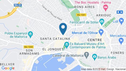 Hotel Continental Palma Map