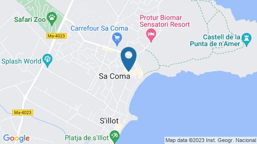 Hipotels Marfil Playa Map