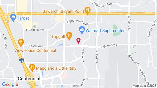 Hampton Inn Denver Tech Center South CO Map