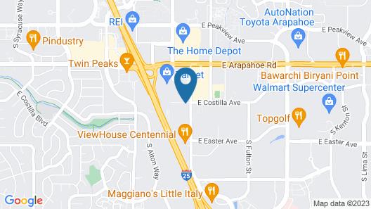HYATT house Denver Tech Center Map