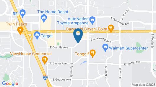 Embassy Suites Hotel Denver Tech Center Map