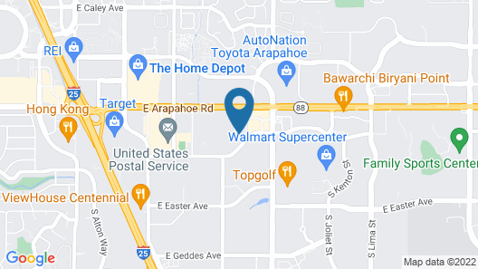 MainStay Suites Denver Tech Center Map