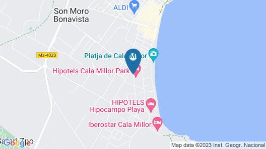 Hipotels Cala Millor Park Map