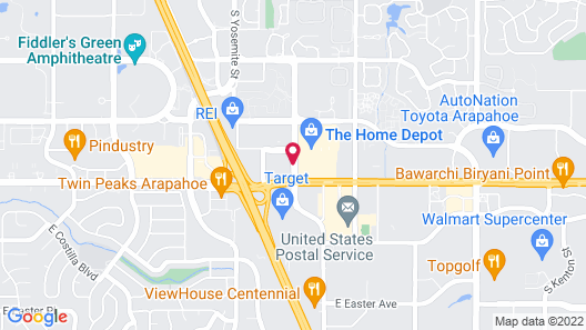 Best Western Plus Denver Tech Center Hotel Map