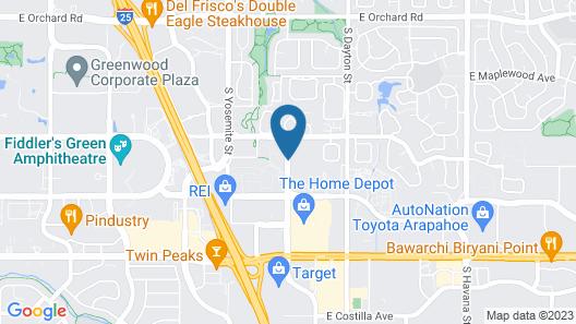 The Commons Hotel & Suites - Denver Tech Center Map