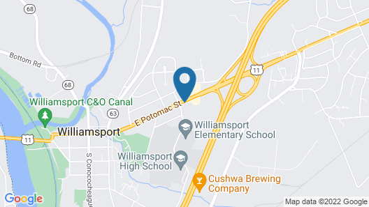 Red Roof Inn Hagerstown - Williamsport, MD Map