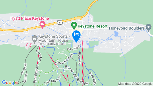 Timbers and Lone Eagle by Keystone Resort Map