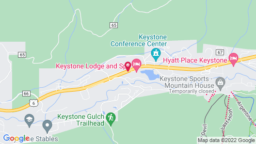 Gateway Mountain Lodge by Keystone Resort Map