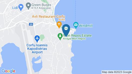 Arion Hotel Corfu Map