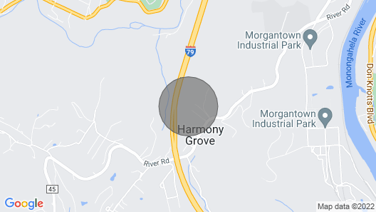 Country Setting- Less Then 2 Miles to Downtown Morgantown Map