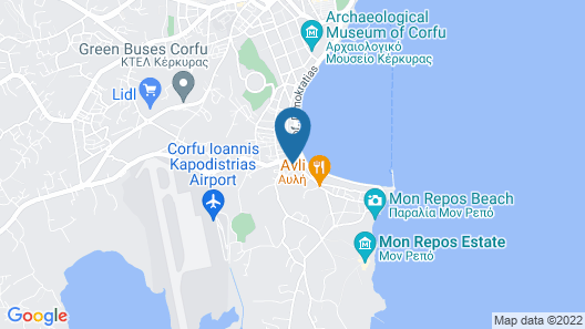 Calliope Corfu Apartments 1 Map