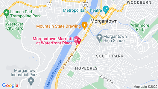 Morgantown Marriott at Waterfront Place Map