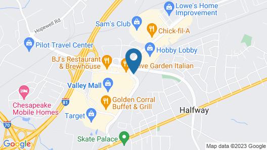 Travelodge by Wyndham Hagerstown Map