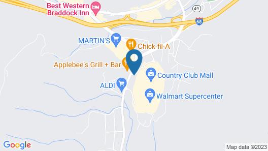 Motel 6 La Vale, MD - Cumberland Map