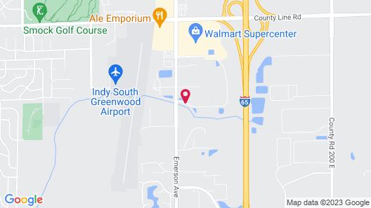 WoodSpring Suites Indianapolis Greenwood Map