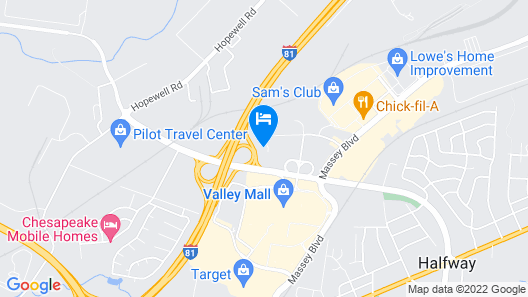 Holiday Inn Express And Suites Hagerstown, an IHG Hotel Map