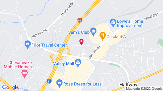 Homewood Suites by Hilton Hagerstown Map