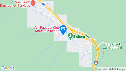 Vail Racquet Club Mountain Resort Map