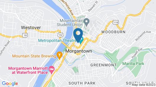 The Scholar Hotel- Morgantown Map