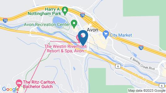 The Westin Riverfront Mountain Villas, Beaver Creek Mtn Map