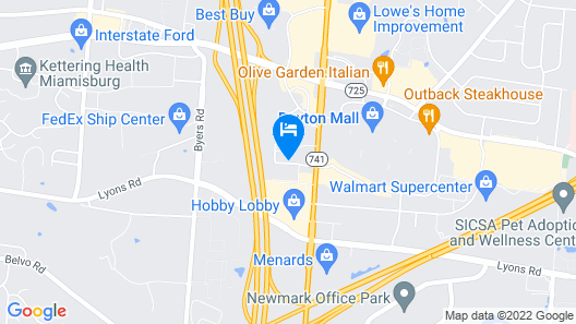 DoubleTree Suites by Hilton Hotel Dayton - Miamisburg Map