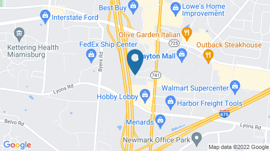 Hawthorn Suites by Wyndham Miamisburg/Dayton Mall South Map