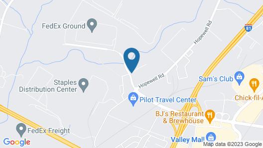 Super 8 by Wyndham Hagerstown/Halfway Area Map
