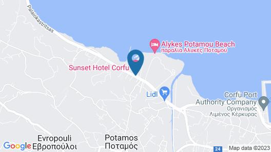 Sunset Hotel Corfu Map
