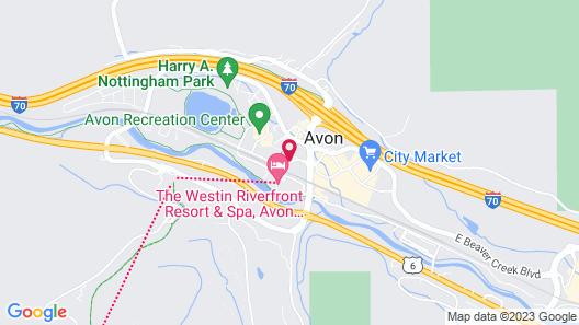 Club Wyndham Resort at Avon Map